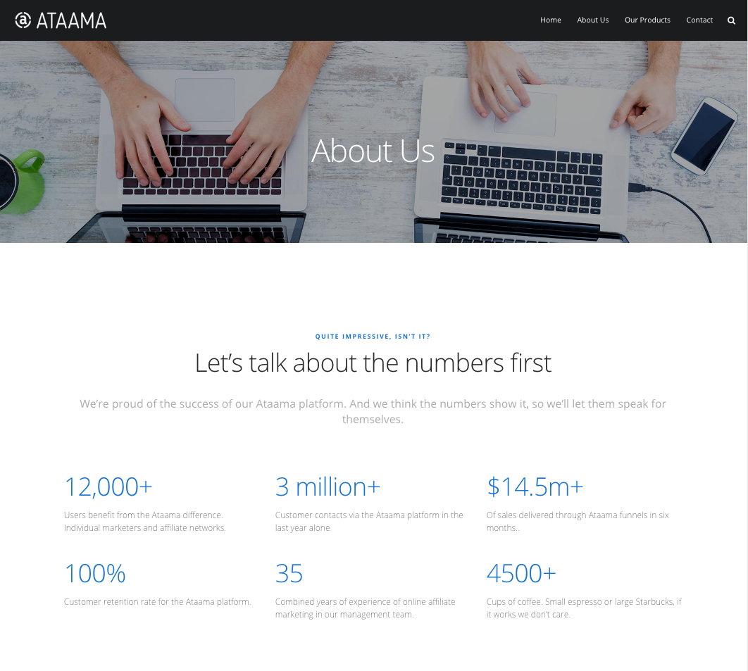Ataama Website - About Us